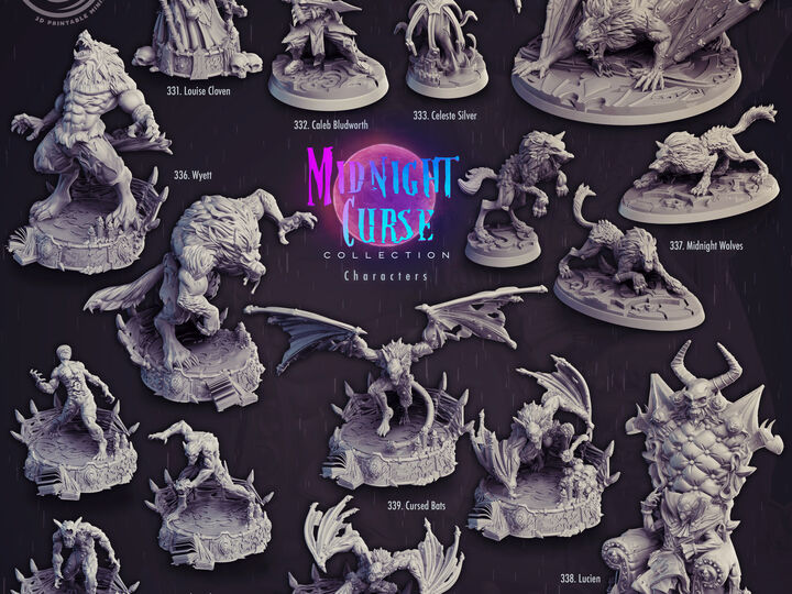 Midnight Curse Miniatures (Vampires)