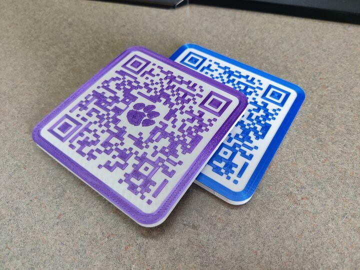 Custom Wifi QR Coaster