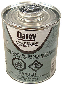 Medium Gray PVC 40 Solvent Cement 946ML