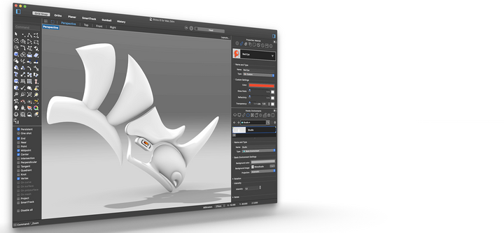 3D design in Rhino