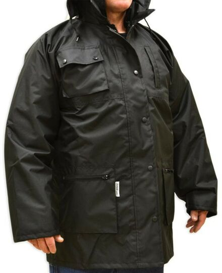 2XL WATERPROOF REMOVE LINED JACKET BLACK