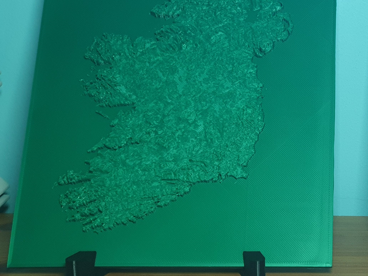 3D Map of Ireland - FREE SHIPPING (One colour version)