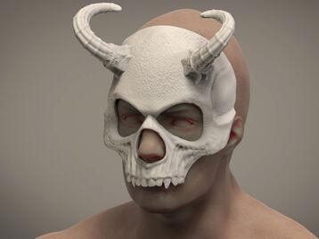 Halloween Skull Masquerade Daemon mask