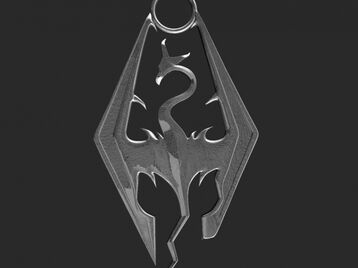 Skyrim dragon keychain