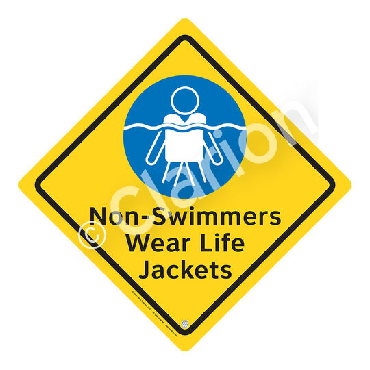 Non-Swimmers Wear Life Jackets Sign