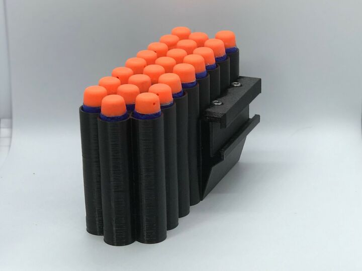 Nerf Dart Holder - Holds 24m, Rail Mounted