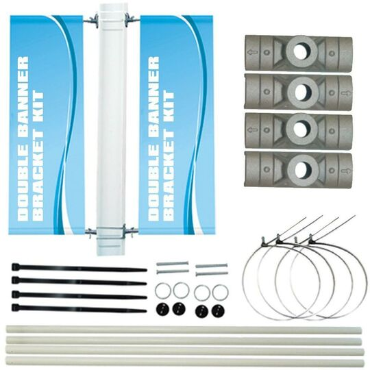 DOUBLE POLE BANNER BRACKET KIT