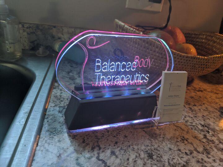 RGB LED Custom Engraved Lighted Sign