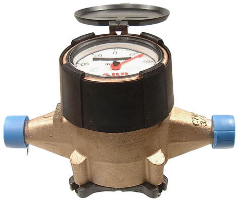 3/4 WATER METER, DIRECT READING L/TAIL