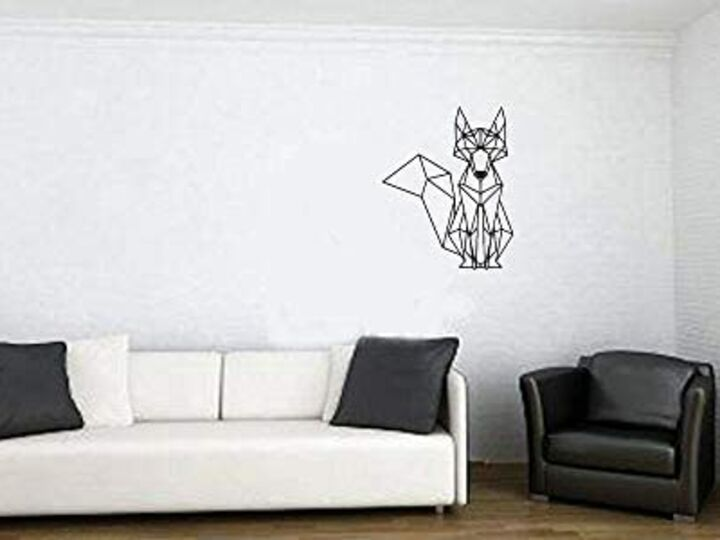 Interactive 3D Wall Art Fox Hanging Decor for Living Room Wall Office Wall Space Decoration Home Decoration Best Gift Item(Medium)