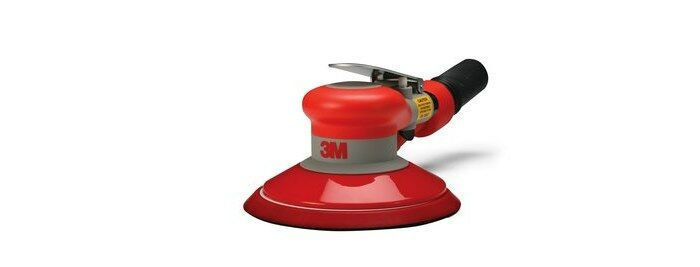 3M 20327 SELF-GENERATED VACUUM PNEUMATIC RANDOM ORBITAL SANDER - 6 IN DIA - 12,000 RPM -.28 HP