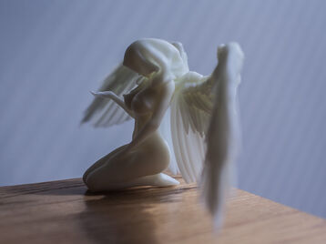 Sexy praying angel