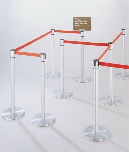 Extenda-Barrier Crowd Control System, Post, Satin Aluminum Finish, 12' L Strap