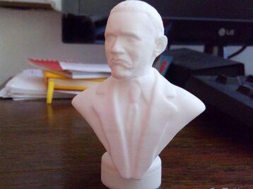 """Obama """"not bad"""" meme sculpture"""