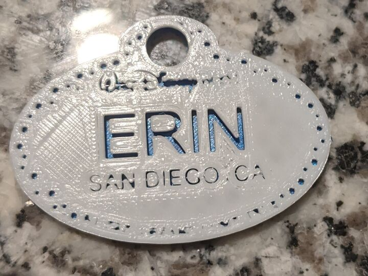 Disney Name Tag Keychain