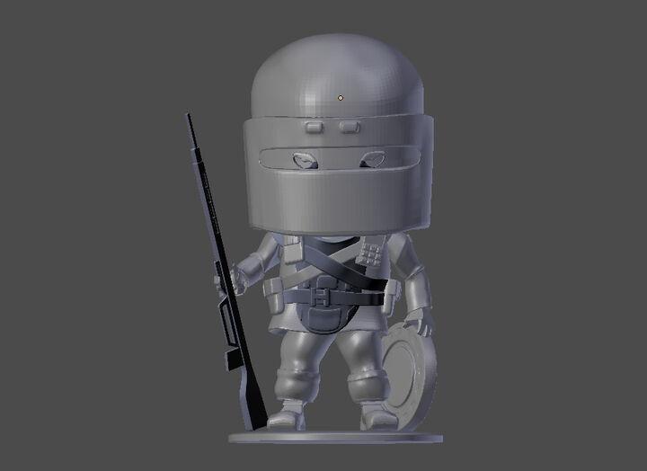 Rainbow Six Siege Tachanka Chibi Figurine - 3D Printable