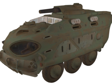 Military vehicle from fallout 4