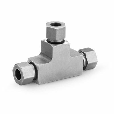 316 Stainless Steel Swagelok Medium Pressure Tube Fitting, Union Tee, 1/4 in. Tube OD