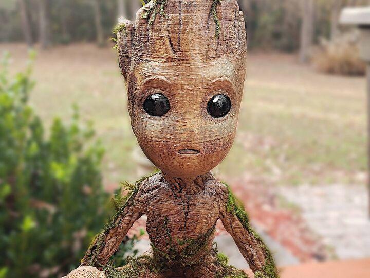 Baby Groot Succulent Planter