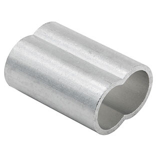 Aluminum Fiber Rope Duplex Sleeves | Cable Ferrules For Fiber Rope - 3/8""