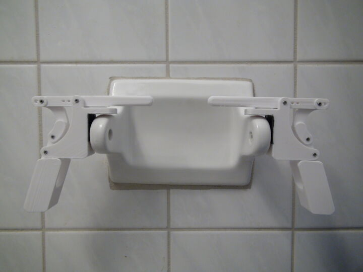 Universal Quickchange Toilet Paper Holder RAW Plastic Parts Only