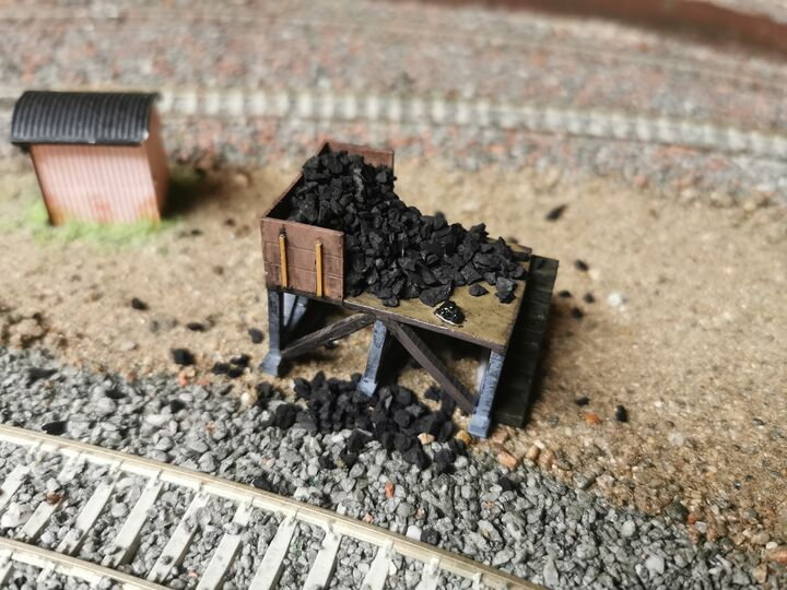 Small Coal Stage OO Gauge resin kit
