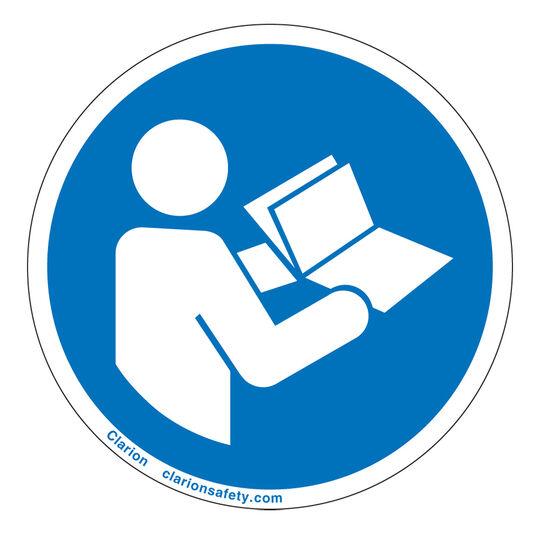 Consult Operators Manual Sign