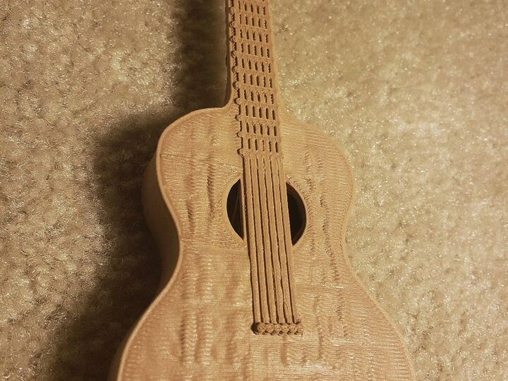 Wooden Acoustic Guitar (Model)