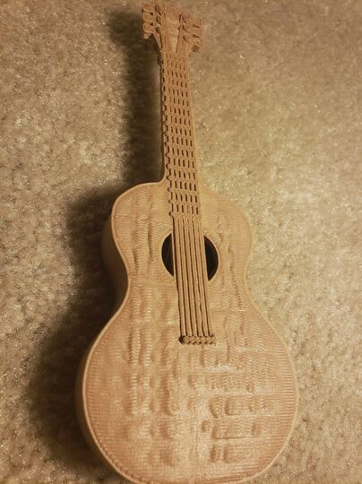 Wooden Acoustic Guitar (Model)