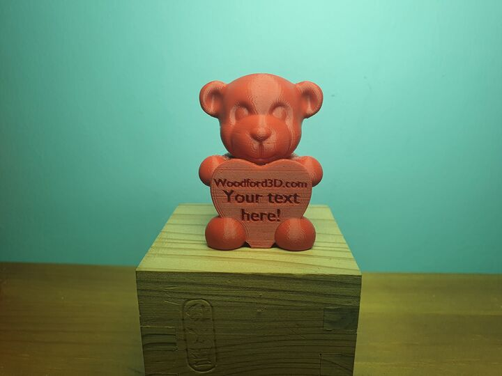 Custom Text 3D Teddy!