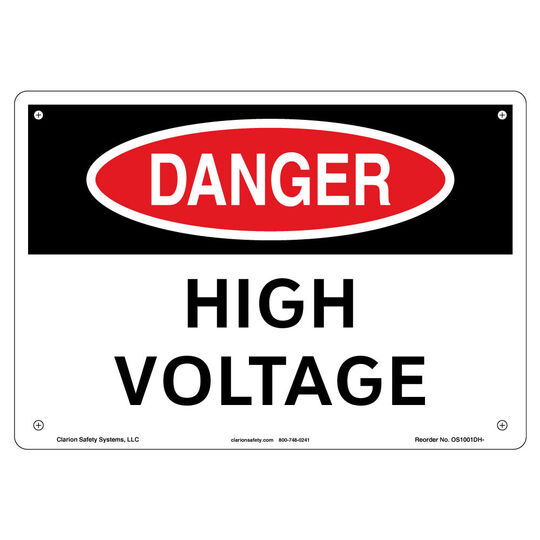 Danger/High Voltage Sign
