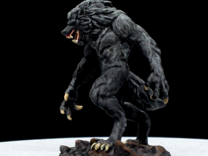 Werewolf Miniature.  High Quality 3D Resin Print