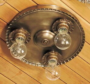 Crimped Round Ceiling Light BT1153