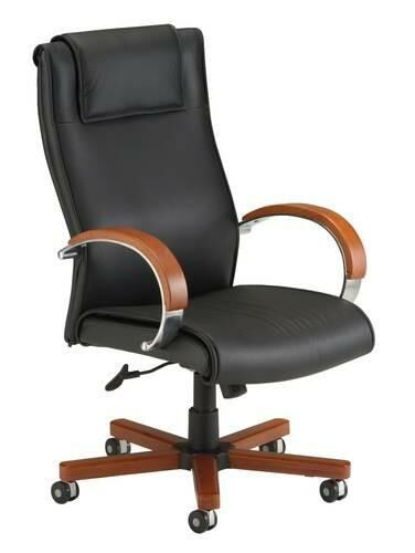 Apex High-Back Leather Swivel-Tilt Chair