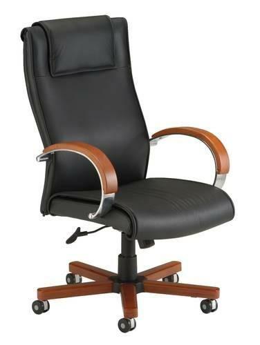 Apex High-Back Leather Swivel-Tilt Chair