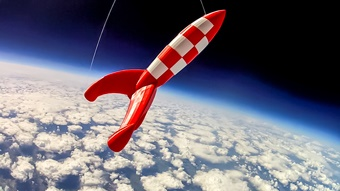 3D Printed Rocket Launches Into Space