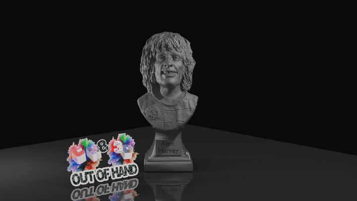Alex Harvey Head Bust  on Base with Name Plate