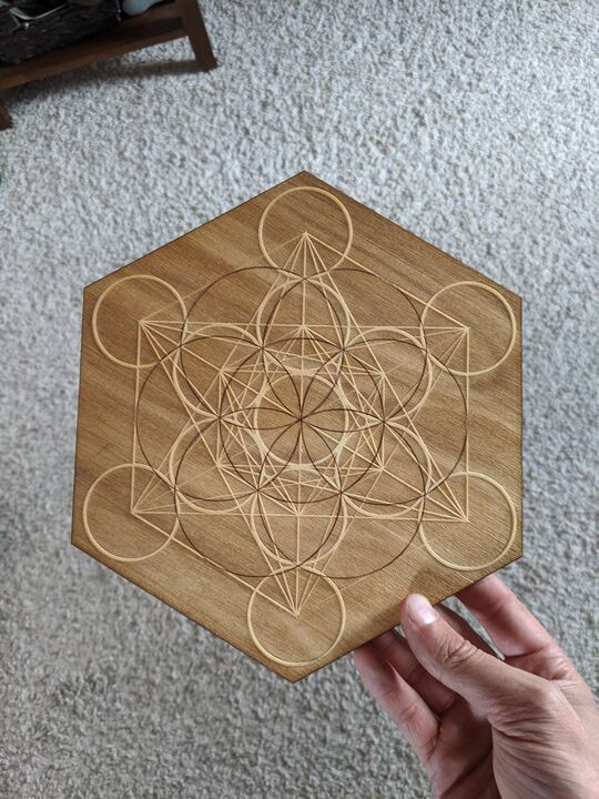 Sacred Geometry Crystal Grid