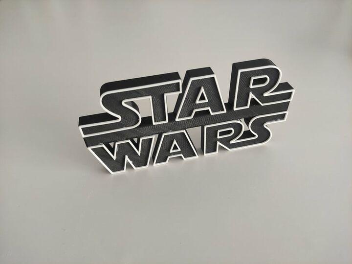 StawWars Logo Stand 3D Printed