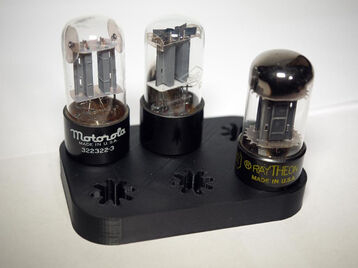 Octal vacuum tube holders   desktop and wall