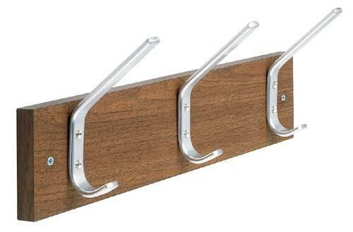 Wall-Mounted Hook Panel, 2 Hooks