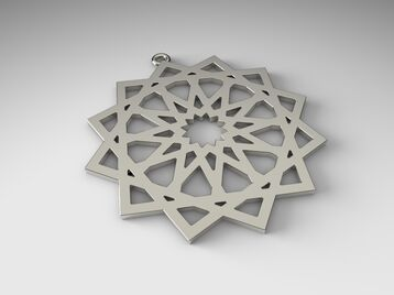 pendant Islamic ornament