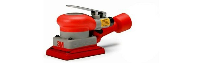3M 20431 SELF-GENERATED VACUUM PNEUMATIC ORBITAL SANDER - 3 IN WIDTH - 10,000 RPM - 4 IN LENGTH -.24 HP