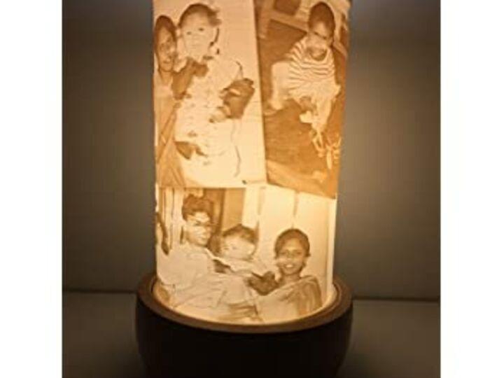 Lithophane lampshade