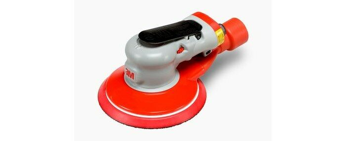 3M 28560 CENTRAL VACUUM PNEUMATIC RANDOM ORBITAL SANDER - 6 IN DIA - 12,000 RPM -.28 HP