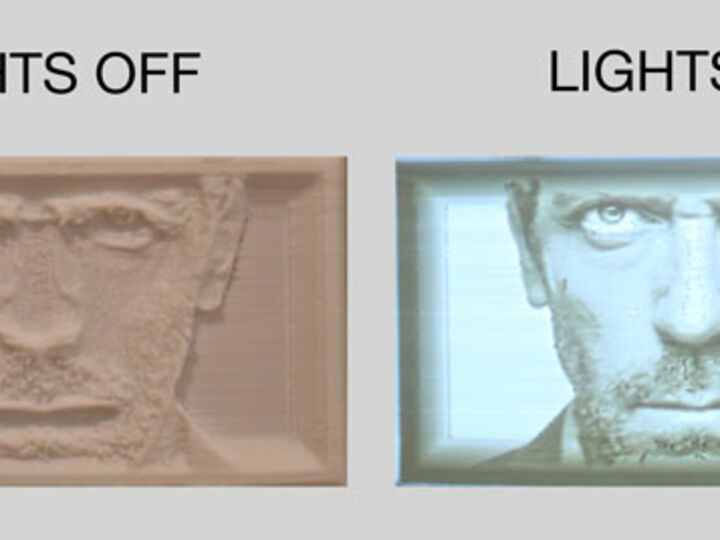 Lithophane - A 3D photo that you can light up!