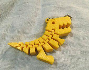 3Dprinted dino keychain