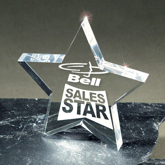 Lasered Lucite Star Award
