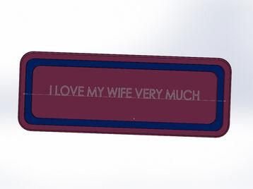 ручка на шкаф  LOVE
