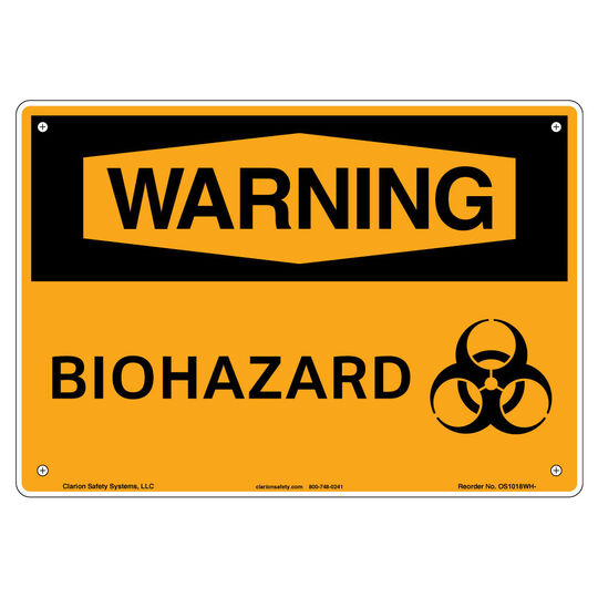 Warning/Biohazard Sign